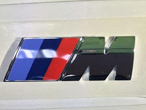 Original BMW M Emblem Chrom Zeichen Logo für Seitenwand Kotflügel Silbrig glänzend für BMW E36 E46 E90 E91 E92 E93 F31 F36 E34 E39 E60 E61 E63 E64 E23 E32 E38 E31 I01 I12 E84 E83 E53 E70E85 E86 E89