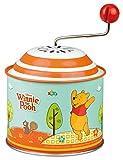 Bolz 52767 - Carillon Musicale Disney Winnie The Pooh Party, Orgel ca. 10,5 x 7,5 cm, Scatola Girevole in lamiera con Melodia Bolero, Scatola Girevole in Metallo, per Bambini da 18 m+, Multicolore