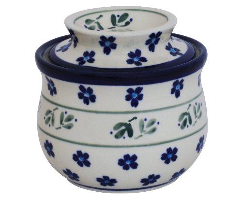 Bunzlauer Keramik Beurrier avec refroidissement par eau en céramique de Boleslawiec Motif 163a