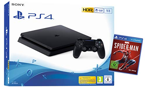PlayStation 4 - Konsole (1TB, schwarz) + Spiderman Bundle