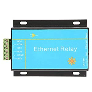 【Weihnachtsgeschenk】Ethernet-Controller-Modul, HHC-N2DC-Ethernet-2-Kanal-Relaisplatinen-Verzögerungsschalter Smart Home…