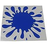 Aerzetix - Sticker autocollant Tâche d'encre d'eau planche 160/148mm (Bleu foncé)