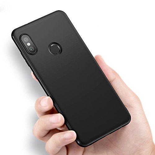 """Vooway Nero Sottile Silicone Morbido TPU Custodia Cover Slim Case + Pellicola Protettiva Per Xiaomi Mi Mix 2s (5.99"""") MS50181"""