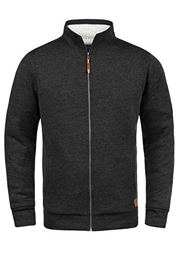 Zip-jacke Charcoal (BLEND Tedox Herren Sweatjacke Zip-Jacke mit Teddyfutter und Stehkragen aus hochwertiger Baumwollmischung Meliert, Größe:M, Farbe:Charcoal (70818))