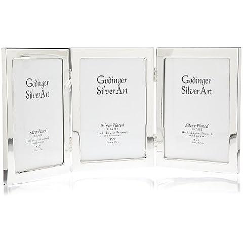 El clásico marco plateado Godinger - 5 x 7 fotos