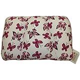 Invitalis Kuschel-Maxx 5519 - Almohada ortopédica, diseño de mariposas, color blanco y rosa