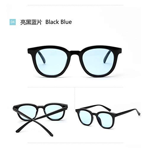 YLNJYJ Sonnenbrillen Sonnenbrillen Frauen Braun Runde Rahmen Klare Linsen Sonnenbrillen Männer Unisex Italien Design Sonnenbrillen Oculos Masculino G