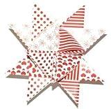 Flechtstreifen Fröbelsterne - Papierstreifen 36 Streifen 25 mm breit 332502 rot / weiß