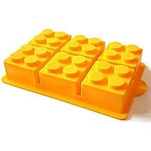 morethanart Cumpleaños infantiles XXL Lego Style Diseño Piedra Silicona molde para pudding Hielo Hielo Bombe