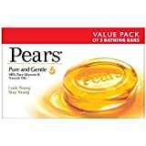 Pears Pure And Gentle Soap Bar, 125g*3(Offer Pack)