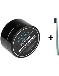 Loveso Zahnaufhellung 2017 Organische Natürliche Bambus Aktivkohle Zähne Bleaching Pulver Zahnpasta + 1pc Zahnbürste (Zufällige Farbe)