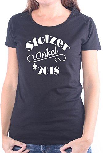 Mister Merchandise Ladies Damen Frauen T-Shirt Stolzer Onkel 2018 Tee Mädchen bedruckt Schwarz