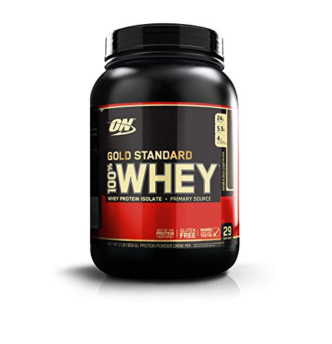 Optimum Nutrition (ON) Gold Standard 100!% Whey Protein Powder - 2 lbs, (Double Rich Chocolate)
