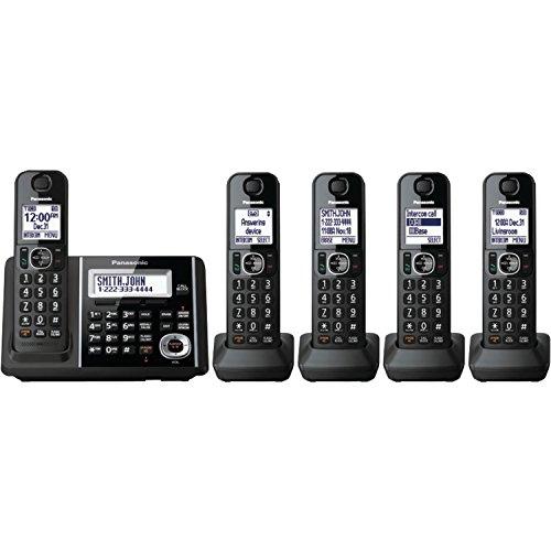 PANASONIC KX-TGF345B DECT 6.0 1.9GHz Digital Cordless Phone (5 Handsets)