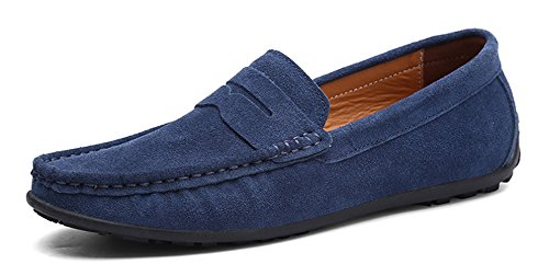 42b537f8fbadef YZHYXS Dress Loafers for Men Slip on Walking Shoes Suede Cow Leather Flats  Moccasins Comfortable Driving