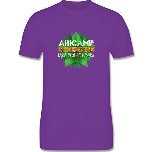 Abi & Abschluss - ABICAMP - ich bin erwachsen lasst mich hier raus! - Herren Premium T-Shirt Lila