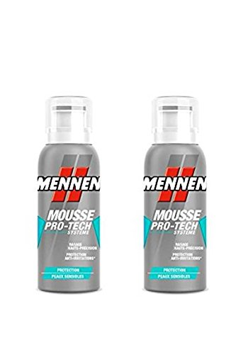 MENNEN - Mini-mousse à Raser Homme Protection Peaux Sensibles 100 ml - Lot de 2