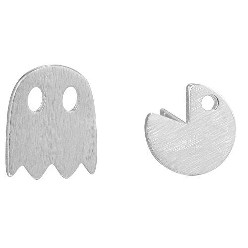 pacman-ghost-game-post-stud-earrings-925-sterling-silver-pendientes-jewelry-accessories