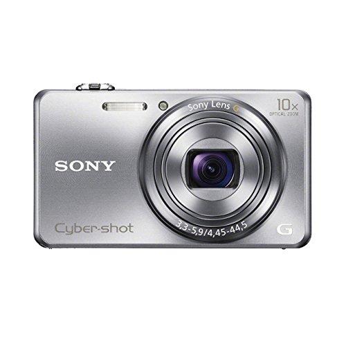 Sony DSC-WX200 Digitalkamera (18,2 Megapixel Exmor R Sensor, 10-fach opt. Zoom, 6,9 cm (2,7 Zoll) LCD-Display, 25mm Weitwinkelobjektiv, Wi-Fi Funktion) silber (Sony W220)