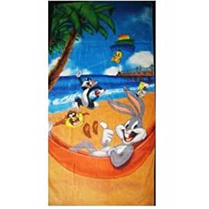 looney tunes serviette de plage cuisine maison. Black Bedroom Furniture Sets. Home Design Ideas