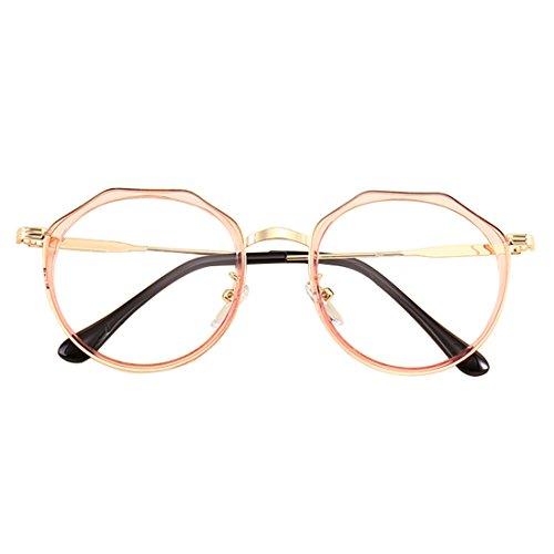 Huicai Männer und Frauen Mode Retro Myopie Gläser Metall Runde Gesicht Myopie Gläser Unregelmäßige Glasrahmen