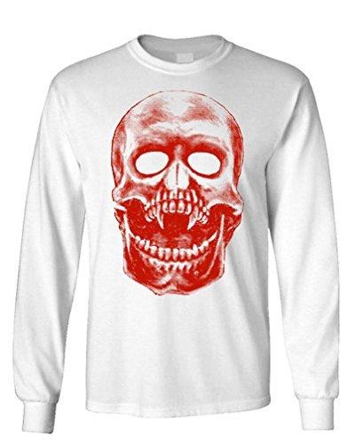 THE GOOZLER - VAMPIRE SKULL - Mens Cotton Long Sleeved T-Shirt