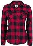 Brandit Amy Flanell Checkshirt Girl-Hemd schwarz/rot - 2XL