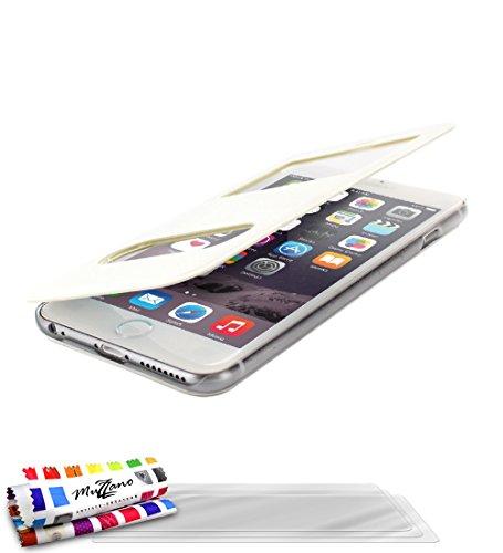 Ultraflache weiche Schutzhülle APPLE IPHONE 6 PLUS [Le X Premium] [Schwarz] von MUZZANO + 3 Display-Schutzfolien UltraClear + STIFT und MICROFASERTUCH MUZZANO® GRATIS - Das ULTIMATIVE, ELEGANTE UND LA Weiß