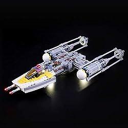LIGHTAILING Jeu De Lumières pour (Star Wars Y-Wing Starfighter) Modèle en Blocs De Construction - Kit De Lumière A LED Compatible avec Lego 75172(Ne Figurant Pas sur Le Modèle)