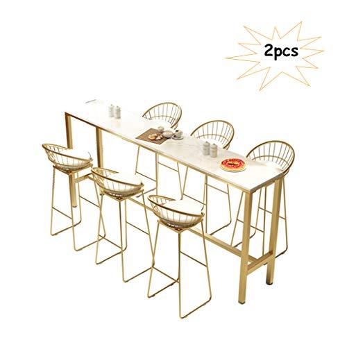 Comif-tabouret de bar Eisen Barhocker mit gebogener Rückenlehne, Restaurant Hocker 3er-Set, Metallschweißen mit Pedalen + PU-Kissen, Heimtextilien (Sitzhöhe: 30 Zoll)