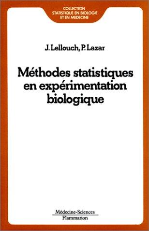 Mthodes statistiques en exprimentation biologique