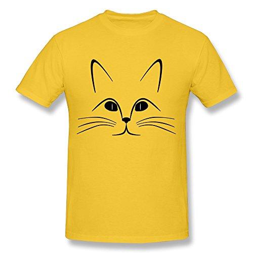 YungGoo T-shirt  Herren T-Shirt Gr. L, Schwarz - Gold