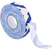 Baoblaze Premium Banda Impermeable Adhesiva de Palo de Hockey a Prueba de Agua Color Opcional Hecho de Material Paño de Algodón - Azul Blanco