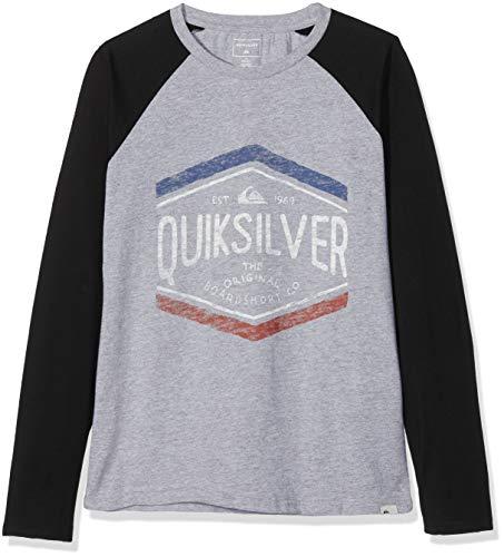 Quiksilver Jungen Sketchy Member T-Shirt, Grau (Athletic Heather SGRH), 10 Jahre (Herstellergröße: S/10) -