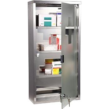 homcom 4 tier stainless steel wall mounted medicine cabinet glass lockable door storage shelves houseware bathroom furniture w 2 keys