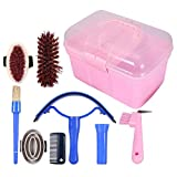 Horse Grooming Kit, Horse Cleaning Care Kit 7Pcs Equestrain Brush Curry Comb Horse Cleaning Tool Set, For Horse Lovers