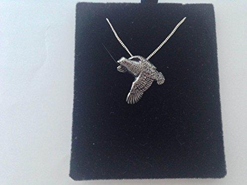 B18Wachtel Anhänger echt 925Sterling Silber Halskette gebraucht kaufen  Wird an jeden Ort in Deutschland