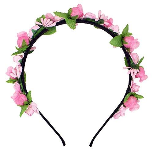 Trachtenland Blumen Haarreif Liliana mit Rosen - Rosa