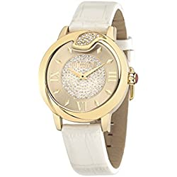 Just Cavalli Spire Women's Quartz Watch with White Leather band R7251598502