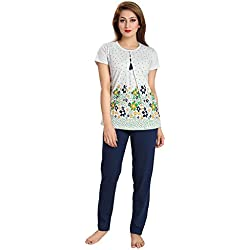 AV2 Women Cotton Floral Print Top & Pyjama Set