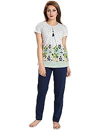 AV2 Women's Cotton Printed Pajama Set (2604_P)