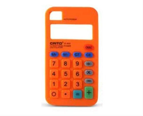 KSIX Freestyle Calculatrice Etui en Silicone pour iPhone 4/4S Noir orange