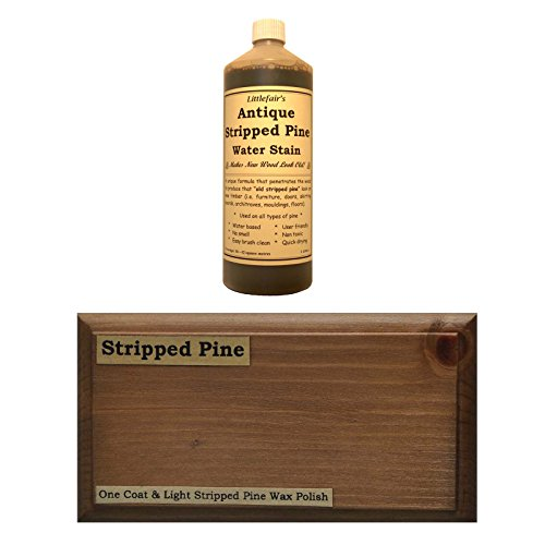 Littlefair's Environmentally Friendly Water Based Wood Stain & Dye (500ml, Antique Stripped Pine)