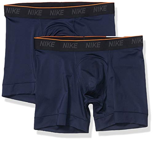 Nike Herren Trainings Boxershorts, 2er Pack, Obsidian/White, XL