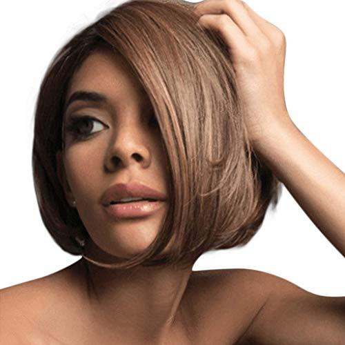 rlaufend Perücke Frauen Brasilianisches Glattes Haar Perücken Festival Leistung Täglich Cosplay Party Karneval Wig Punk Haar der Hohen Temperatur Wie Echthaar (Braun) ()
