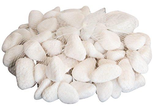 Pierres Glitter Glow, SAC DE 2KG – Pierres naturelles blanches pour déco maison, jardin, artisanat et loisirs créatifs