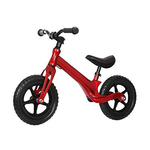 AMDHZ Alu-Laufrad Kein Pedal Bike Aufblasbare Gummireifen 1-6 Jahre Alt Babys Erste Radtour Jungen Mädchen Leicht Gleichgewichtstraining Einfache Steuerung (Color : Red, Size : 100x60cm) -