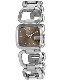 Gucci G-Gucci Ladies Acero inoxidable esfera marrón reloj YA125507 7f0ff7b656d