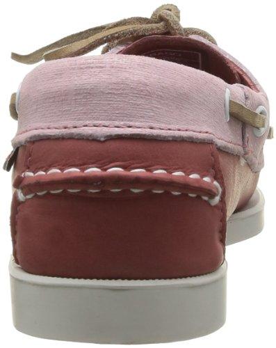 Sebago Spinnaker, Chaussures bateau femme Rose (Salmon/Lt Pink)