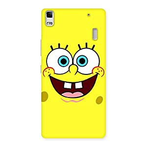 Enticing Spong Yellow Back Case Cover for Lenovo K3 Note